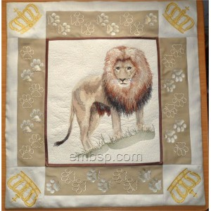 King of beasts Panel lio0005 (for hoop 200*360 mm)