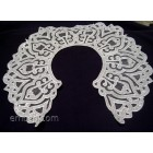 Lace collar, embroidery on organza fsl0031