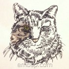 Machine Embroidery Design Cat cat0017